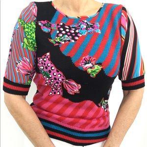 VTG Pink Floral Sequined Dress  Plus Size Sequin Embellished Dress by Diane Freis